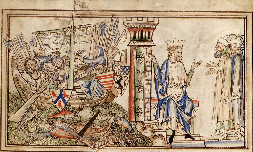 Earl Godwin and his family return by ship to the court of Edward the Confessor in 1052