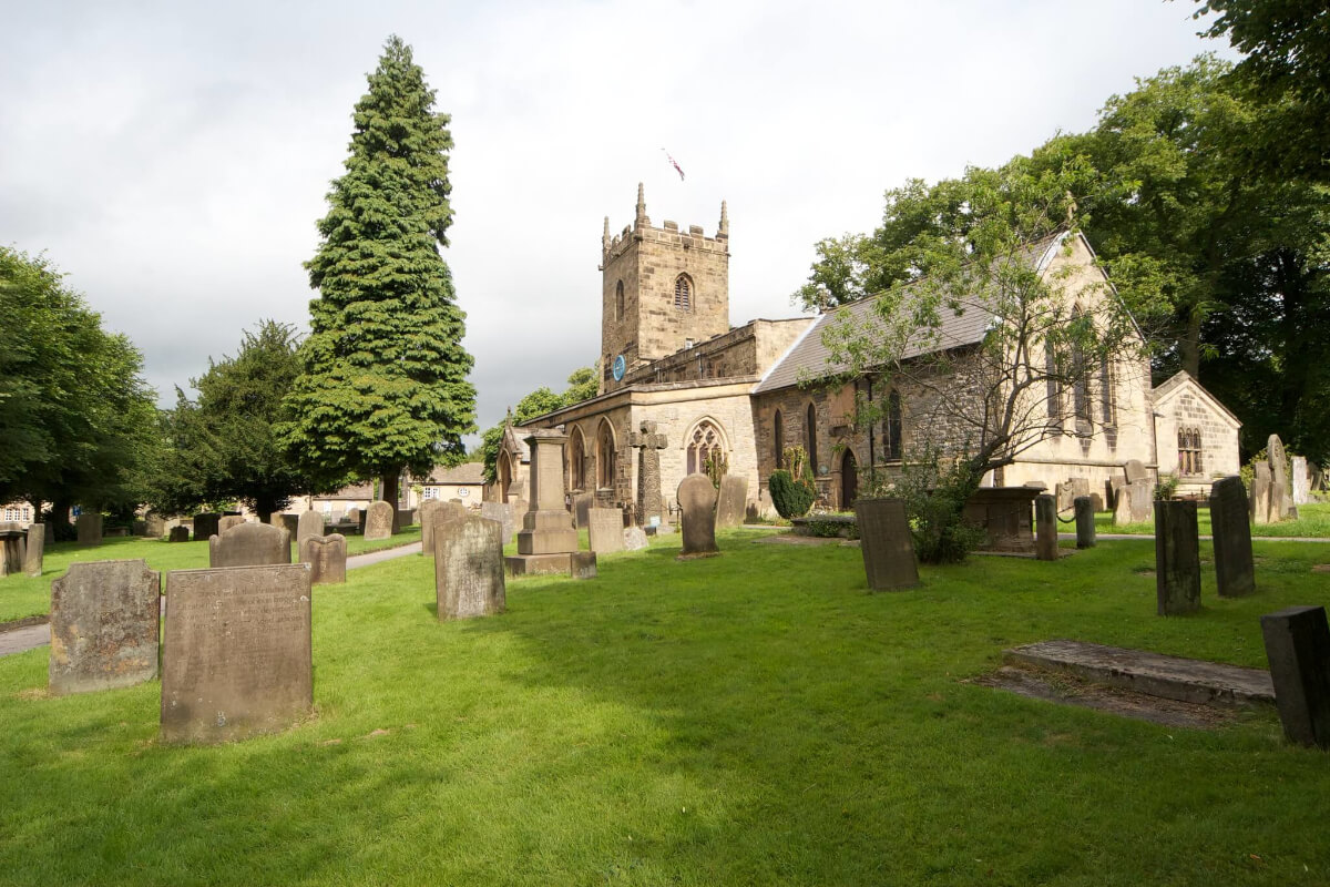 The Eyam Church And Cemetary