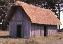 Photo of replica Medieval peasant house